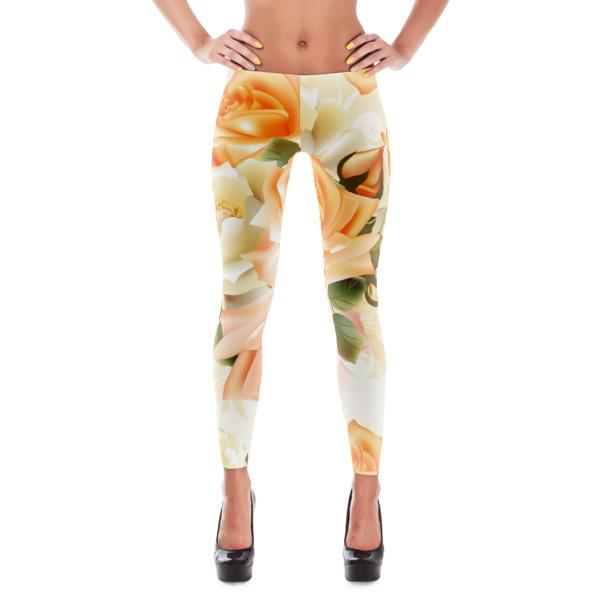 Sweet Orange Delights 1 Exercise/Yoga Pants Leggings On