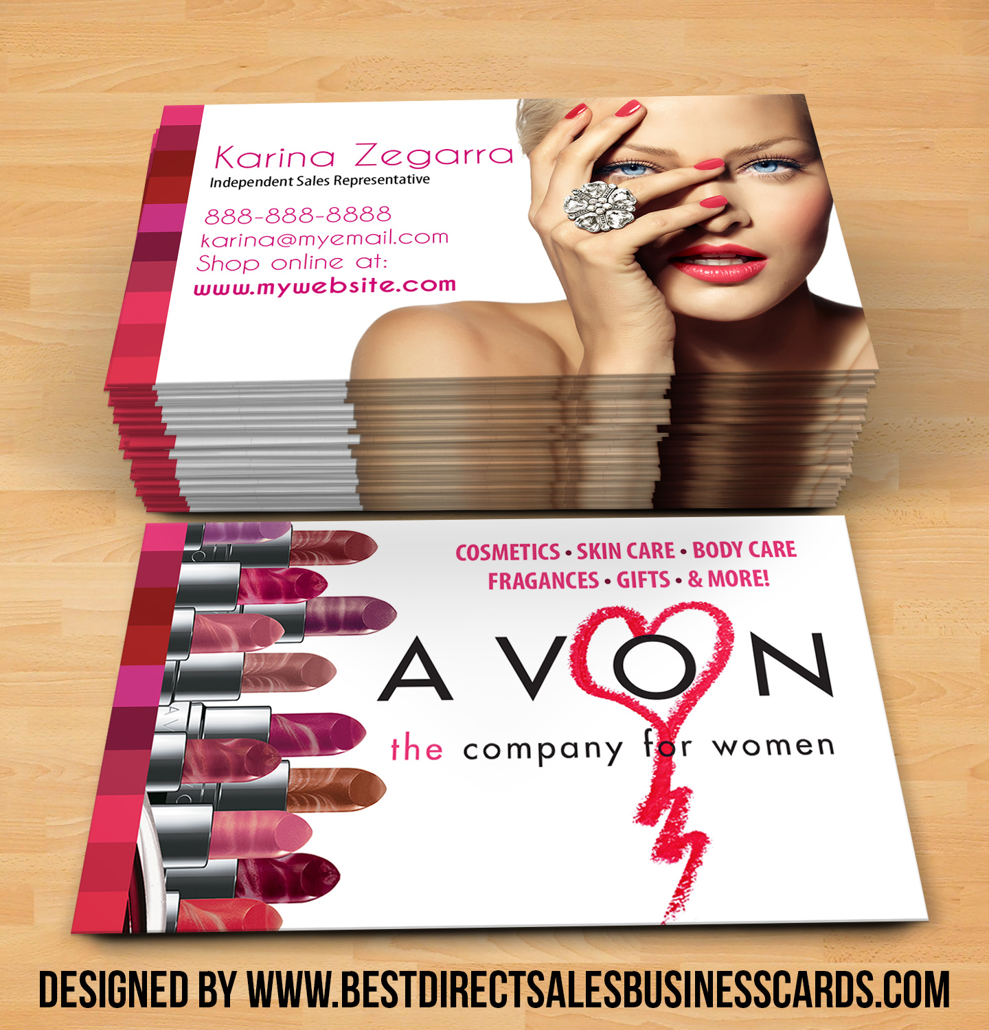 Avon Business Cards style 3 · KZ Creative Services · Online Store ...