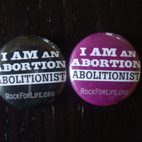 """Abortion Abolitionist"" Button"