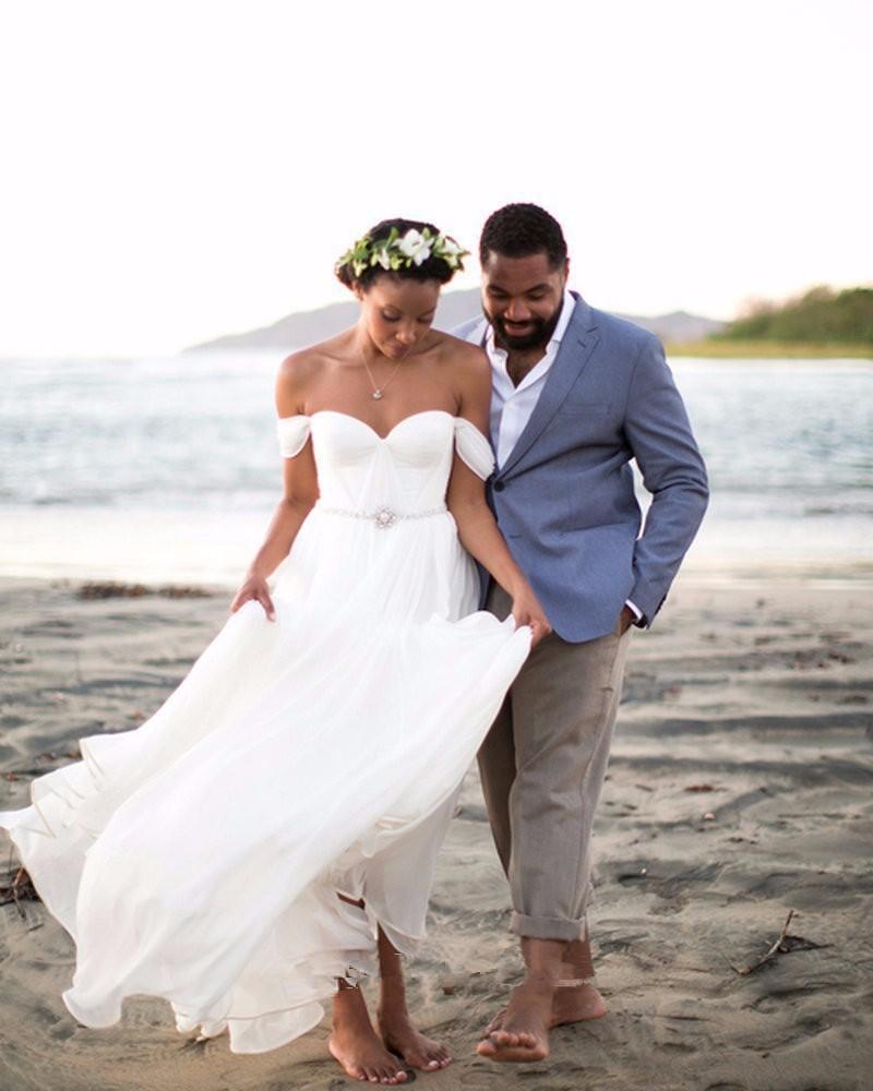 Ruched Chiffon Wedding Dress