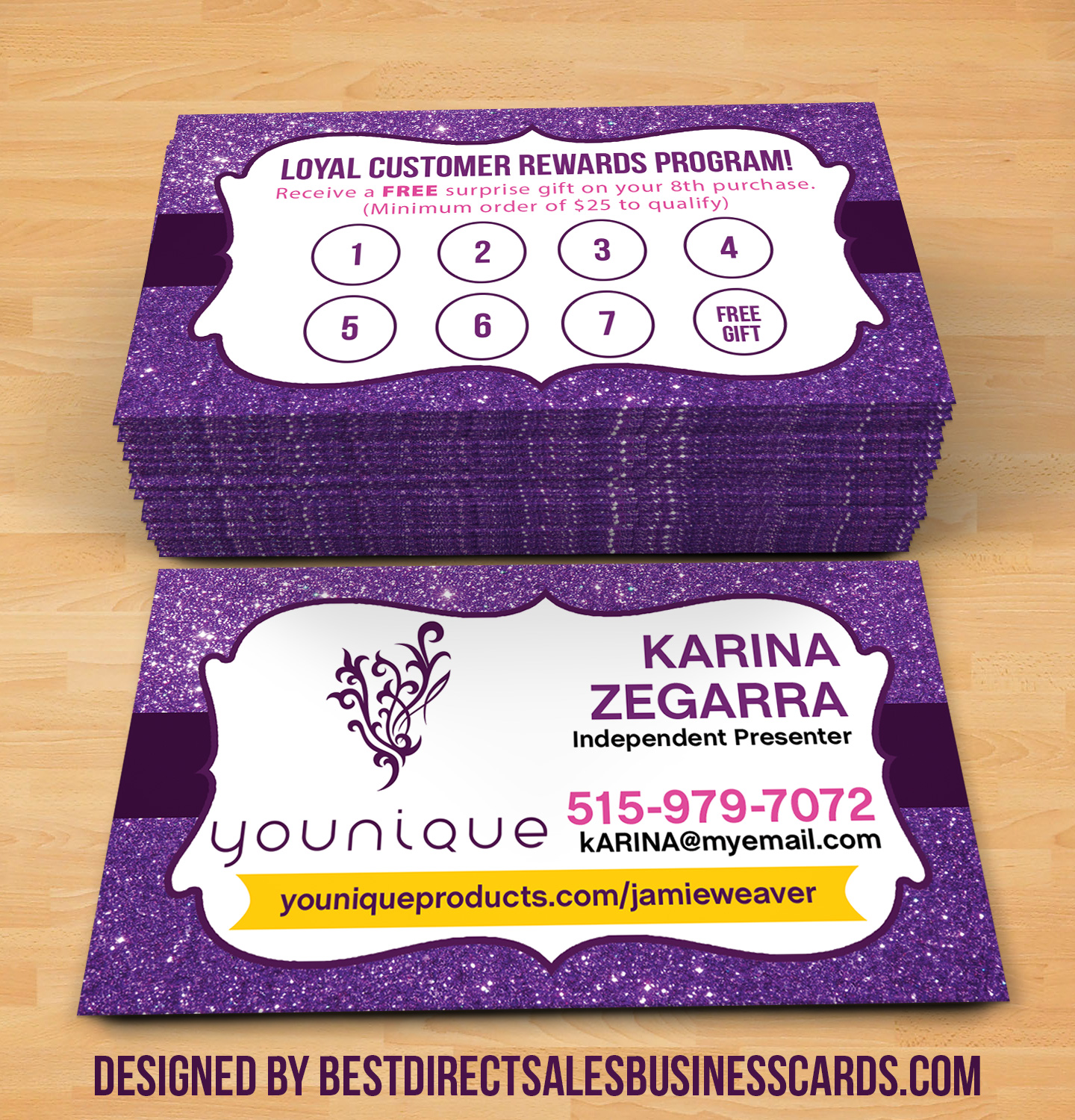 Younique Business Cards - 6 · KZ Creative Services · Online Store ...