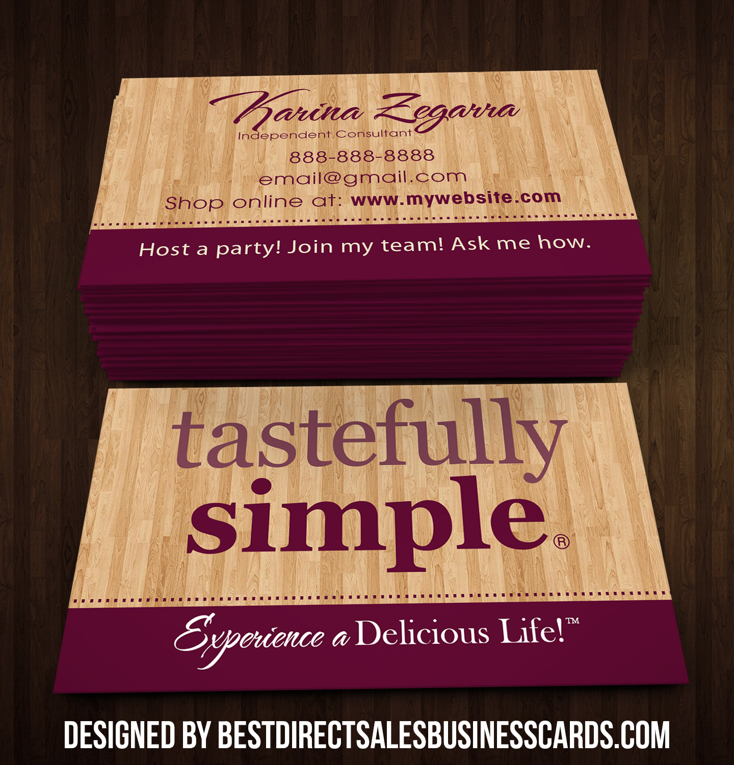 Tastefully Simple Business Cards - 2 · KZ Creative Services · Online ...