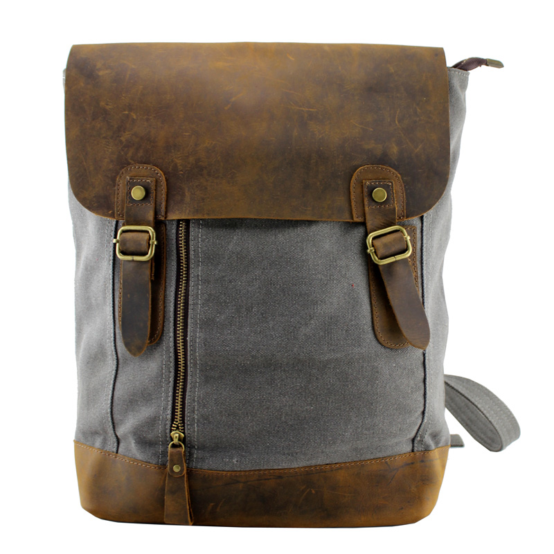 Large Vintage Handmade Leather Backpack Satchel Travel Bag Laptop ...