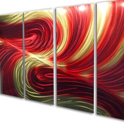 Echo red gold 36x79-metal wall art abstract sculpture modern decor-  sc 1 st  Inspiring Art Gallery & Red · Inspiring Art Gallery · Online Store Powered by Storenvy