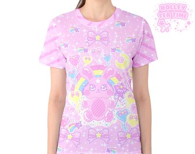 Bubblegum bunny t shirt made to order kawaii harajuku for Made to order shirts online