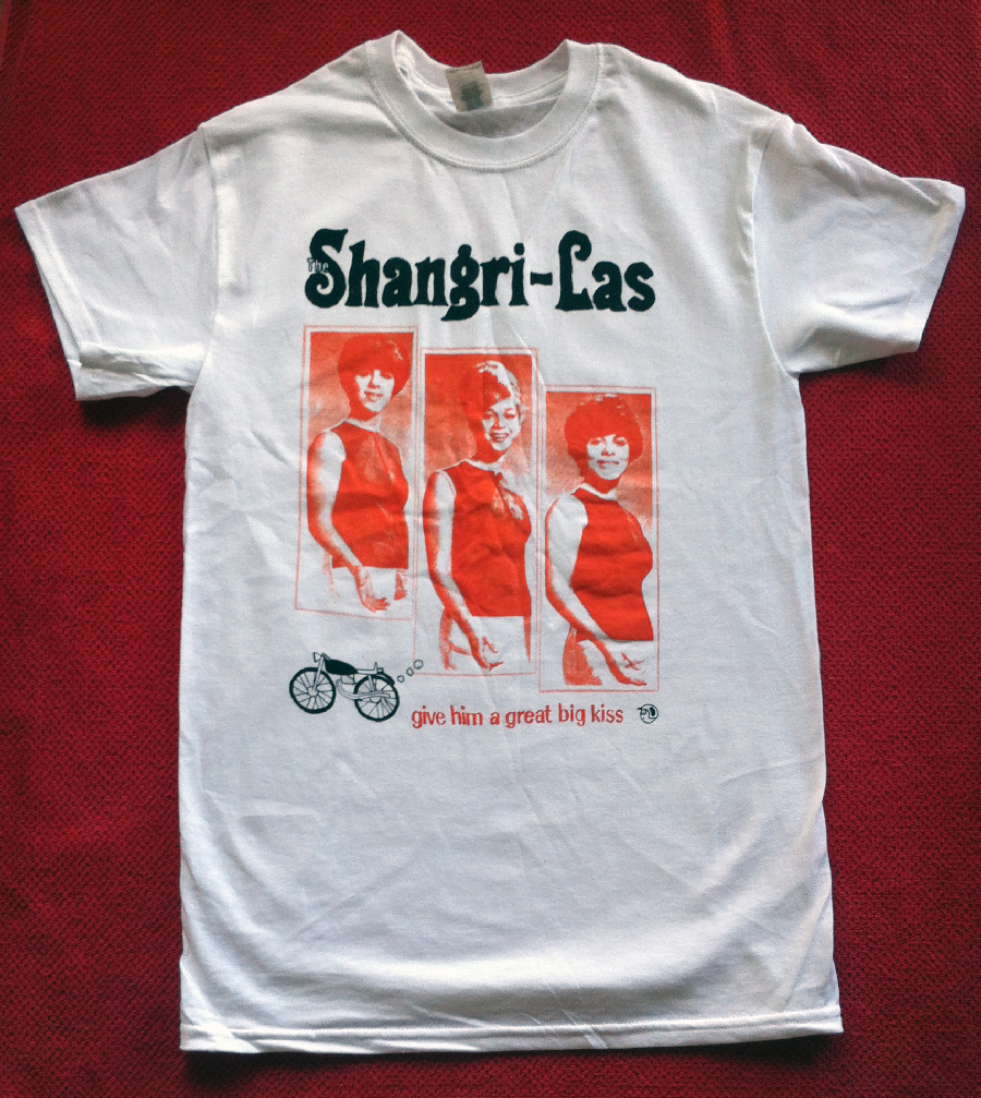 Super soft cotton/poly blend t-shirt with the Shangri-La logo on the front.