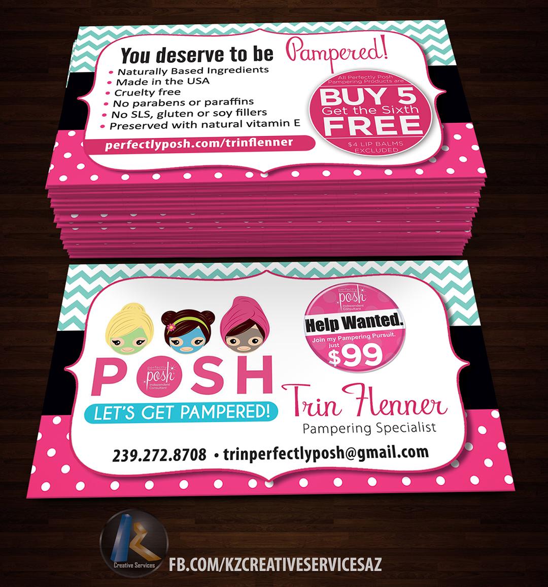 Perfectly posh business cards 16 kz creative services online perfectly posh business cards 16 colourmoves