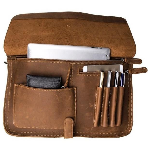 Genuine Leather Briefcase/ Messenger Bag/ Laptop Bag/ Men's ...