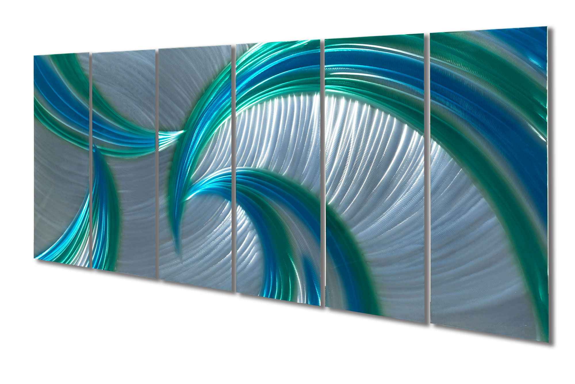 Blue Metal Wall Art Fascinating Tempest Blue Green 48X125  Metal Wall Art Abstract Sculpture Review