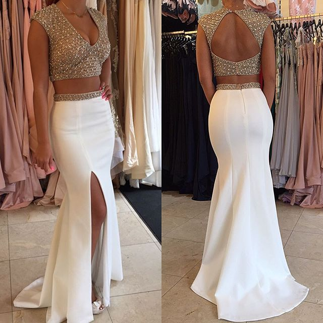 Mermaid Prom Dresses with Crystals
