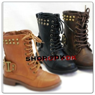 Pdk studded combat boots