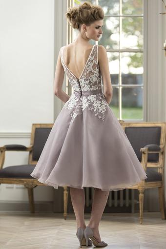 Lace Knee Length Bridesmaid Dress