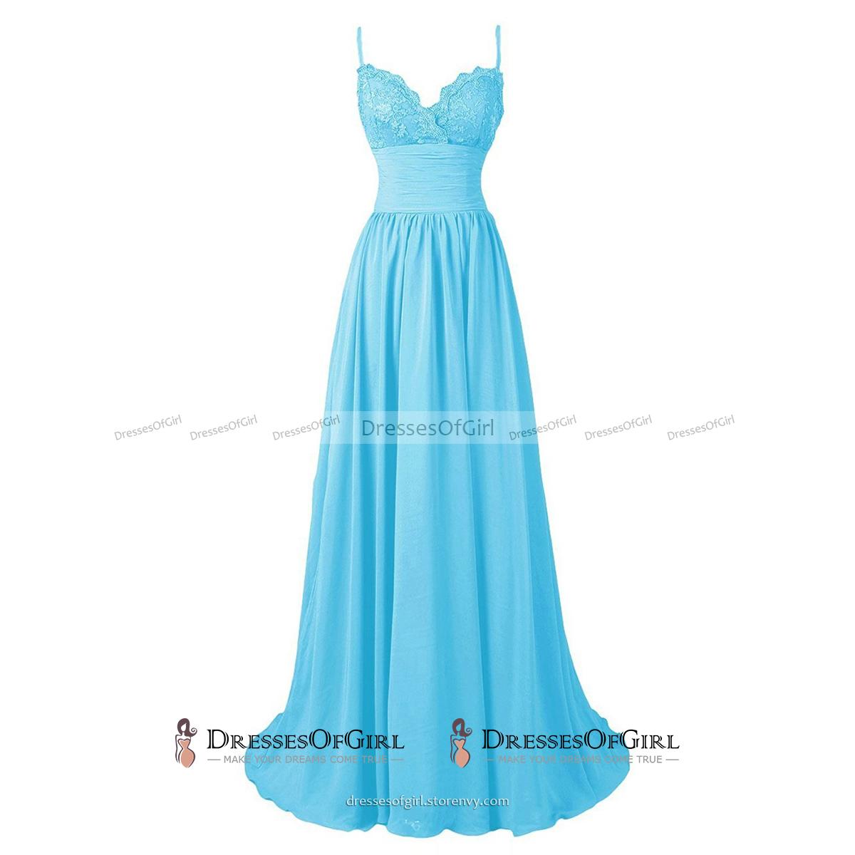 Spaghetti Straps Lace Appliques Prom Dress, Scalloped Burgundy A ...