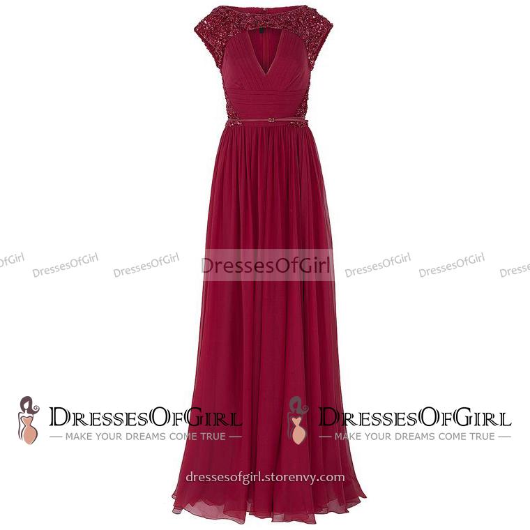 Sequined Bateau Neck Key Hole Prom Dress, Steel Blue Belt Long ...