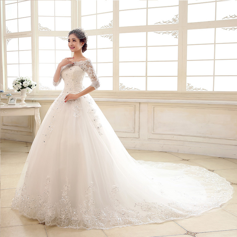 A18 Off the Shoulder Short Sleeve Back Lace Up Ball Gown Appliques ...