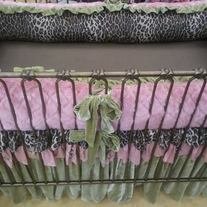Fabulous pink/green/cheetah print bedding