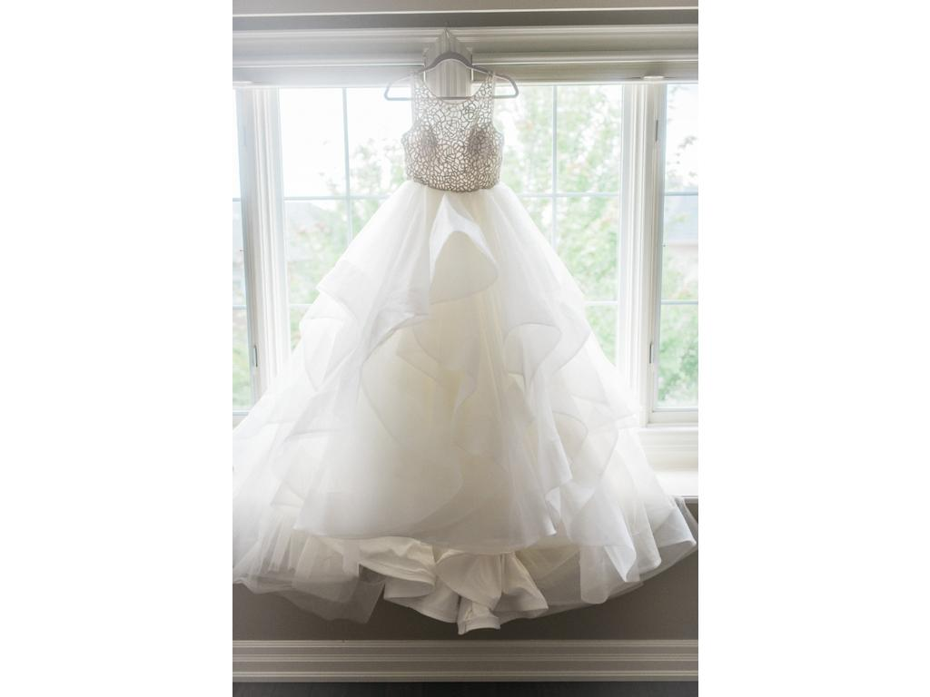 Organza Ball Gown Wedding Dress with Beaded Bodice 6413 ...