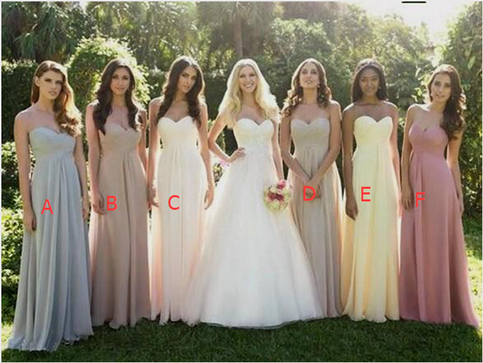 Empire waist bridesmaid dresses simple summer floral for Different colored wedding dresses