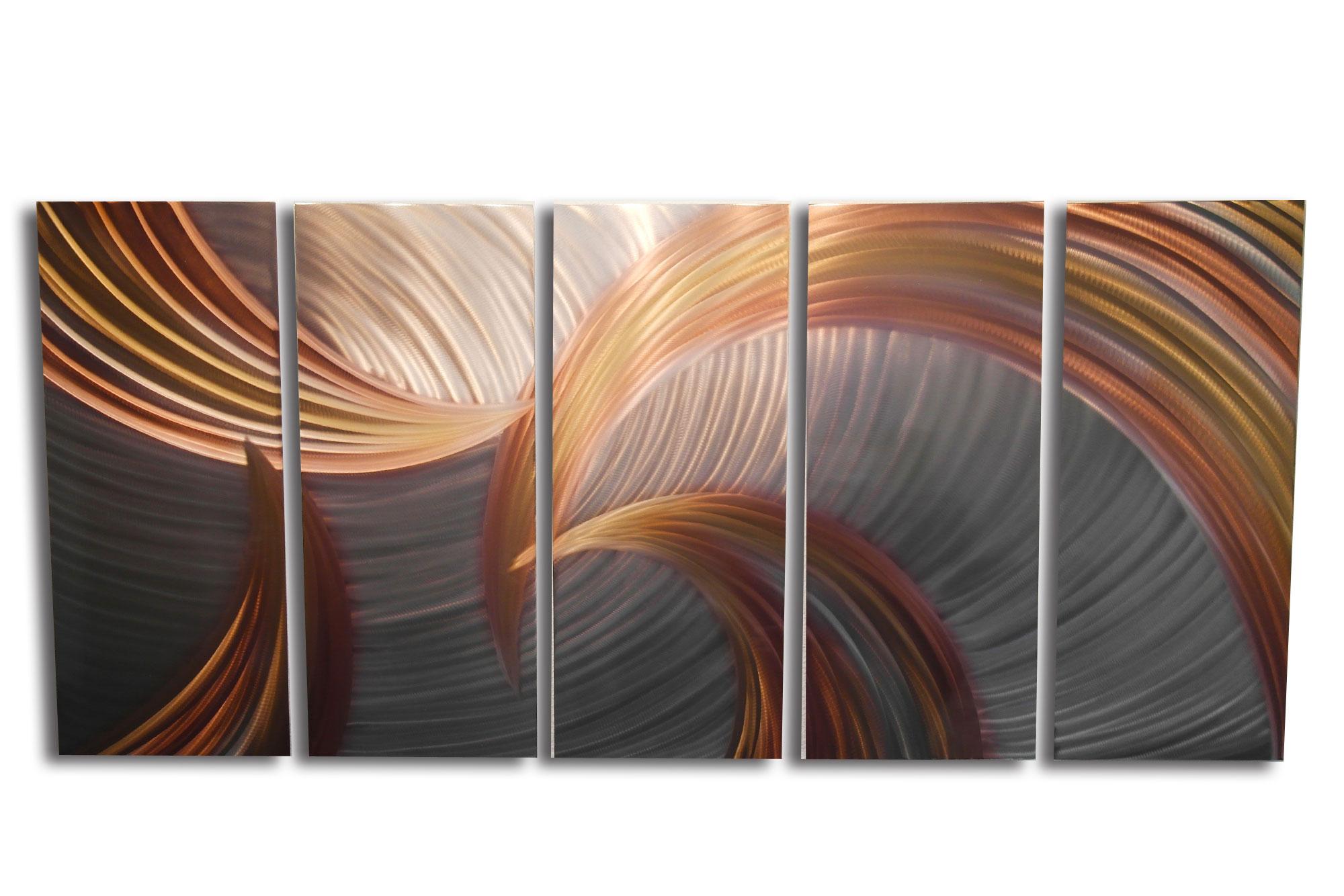 Bronze Metal Wall Art metal wall art- tempest bronze 36x79- contemporary modern decor