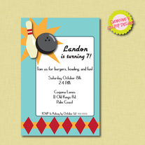 Printable Bowling Birthday Party Invitation