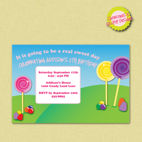 Printable Land of Candy Invitation - 5x7