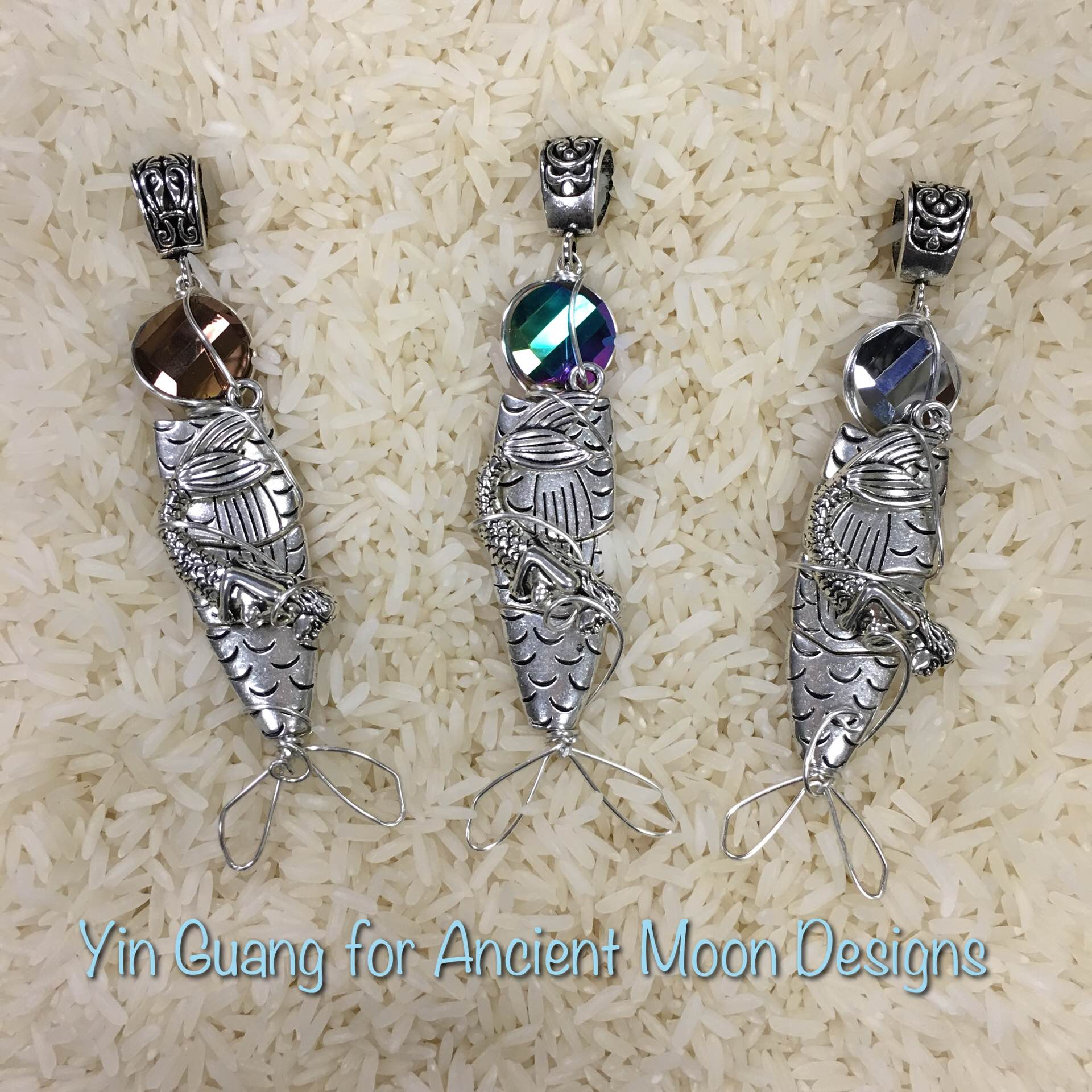 Wire Mermaid fish Pendants · Ancient Moon Beads · Online Store ...