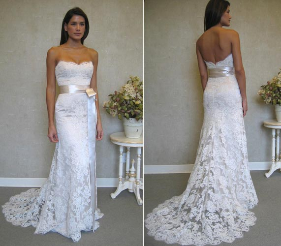 Simple Sheath Lace Wedding Dress · Sanct Sophia · Online Store ...