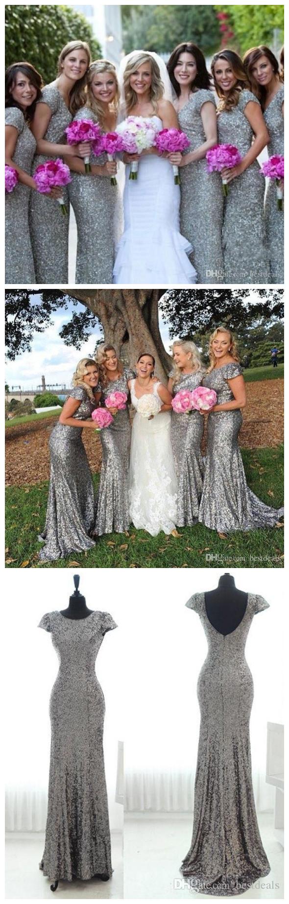 Gray sequin bridesmaid dress long bridesmaid dress cap sleeves gray sequin bridesmaid dress long bridesmaid dress cap sleeves bridesmaid dress popular bridesmaid dress ombrellifo Images