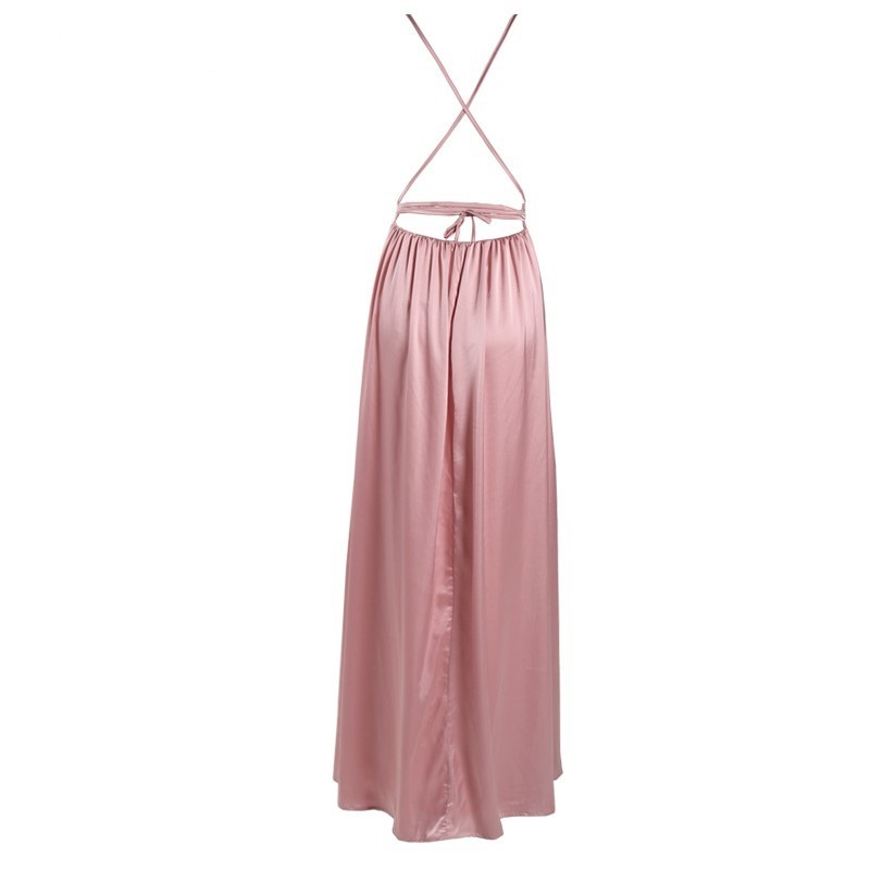 L26 sexy backless prom dress, long prom dress, simple prom dress ...