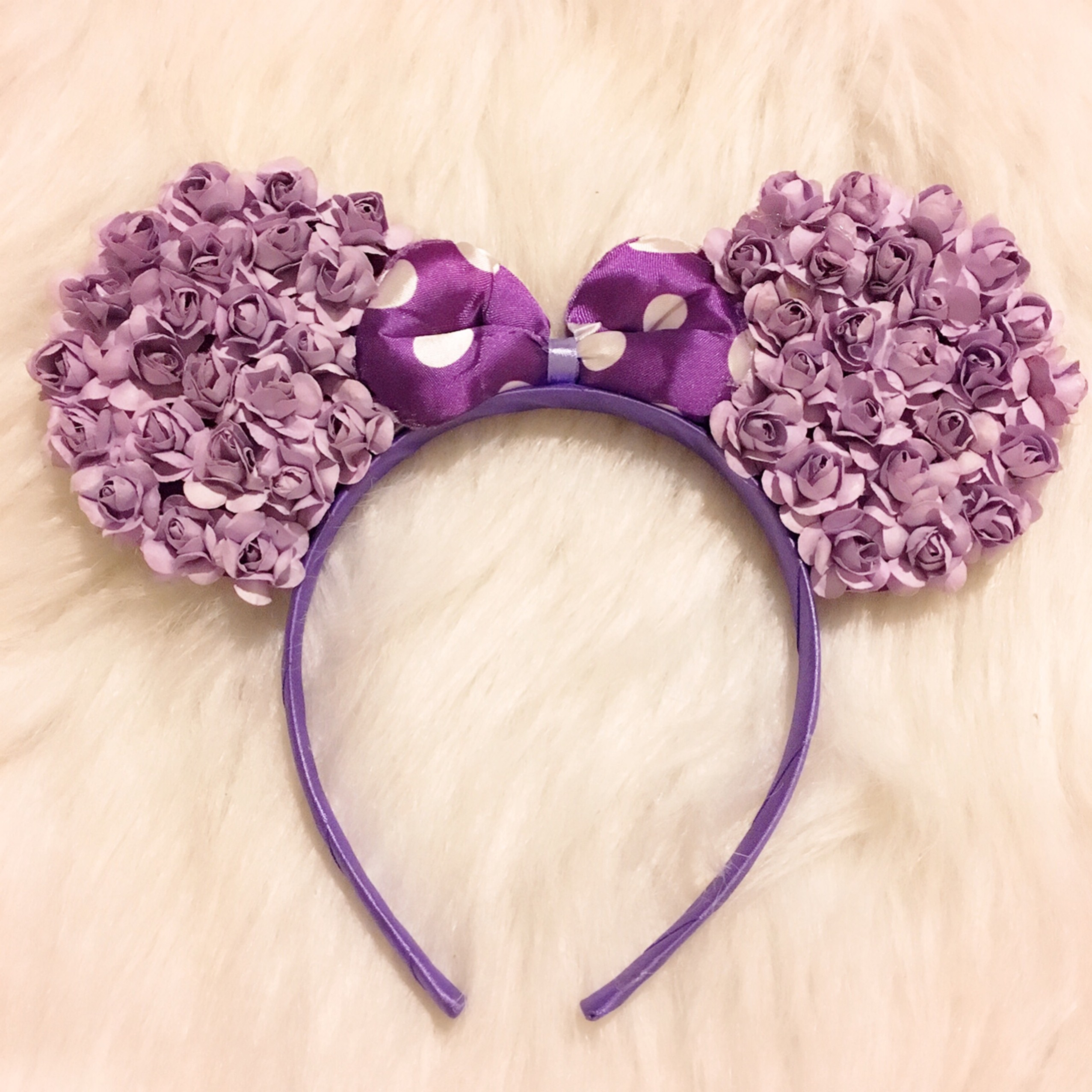 Purple Flower Minnie Mouse Ears Headband Sparkle Boutique Online