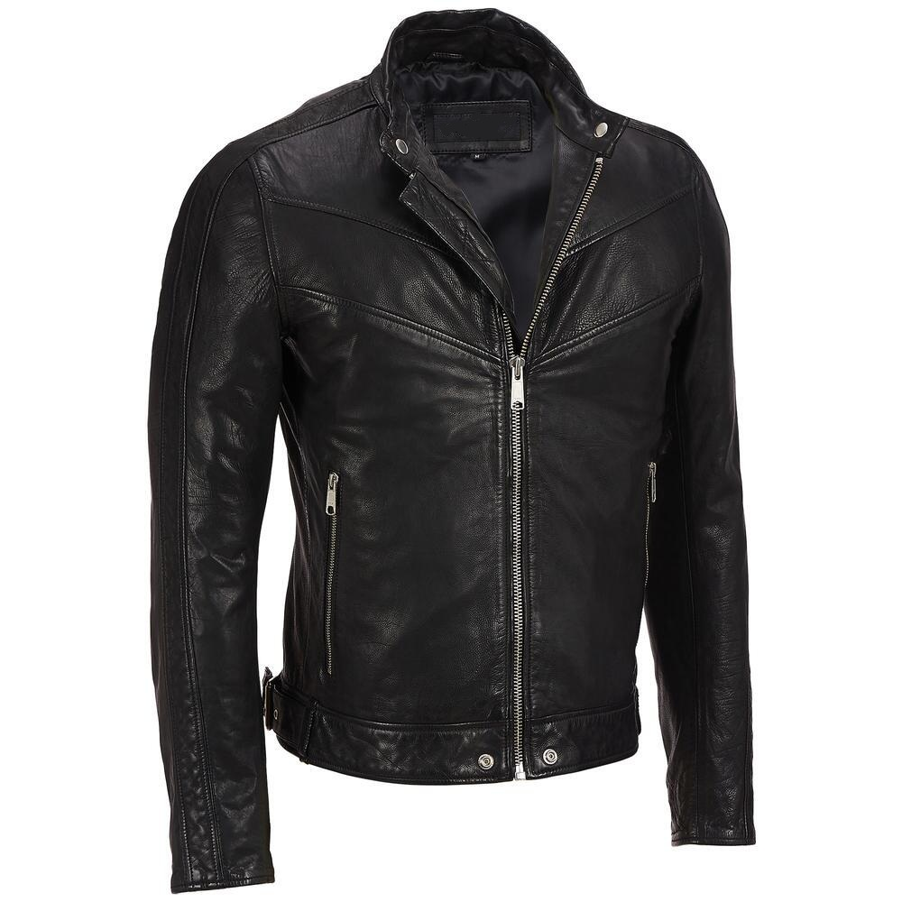 Handmade Mens black leather jacket, Men blasck bomber jacket, Men ...