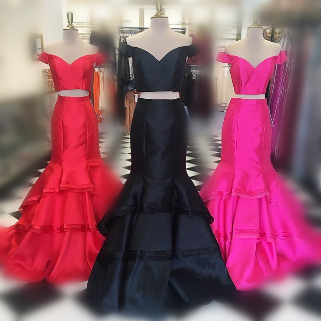 Pink Red Prom Dress