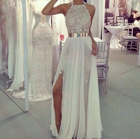 Cheap wedding dresses high neck