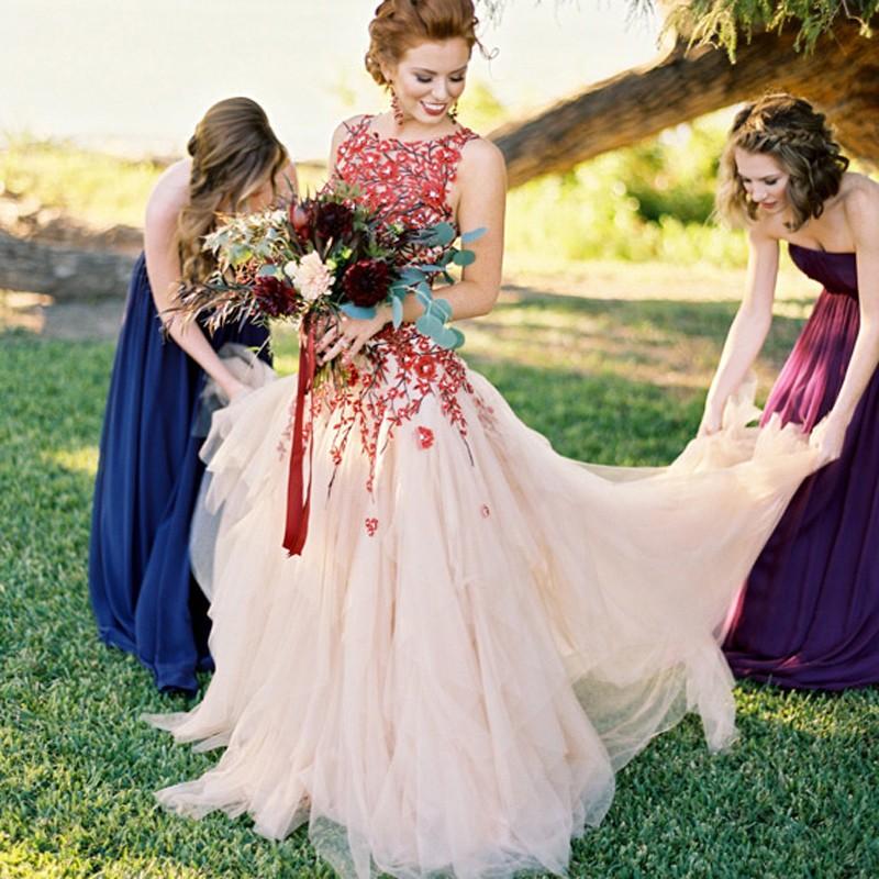 Floral Prom Dress Wedding Dress, 2017 Long Prom Dress Wedding Dress ...