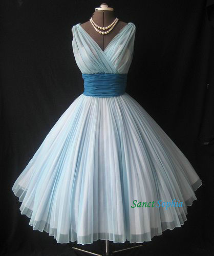 Knee Length Ball Gown Light Blue Homecoming