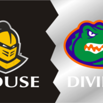 UCF/UF House Divided License Plate