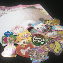 25 Kawaii Sticker Flakes
