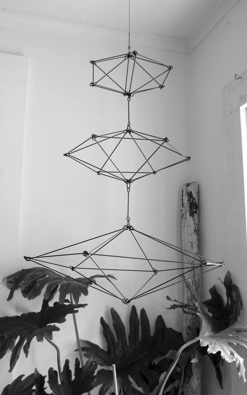 Geometric Mobile Himelli Wire Sculpture · CharestStudios · Online ...