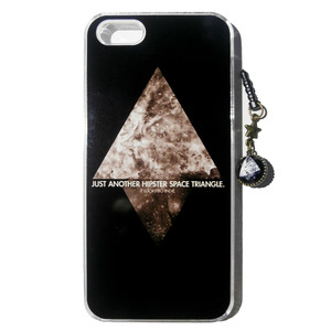 """Hipster Triangle"" iPhone 5 Case + Dust Cap"