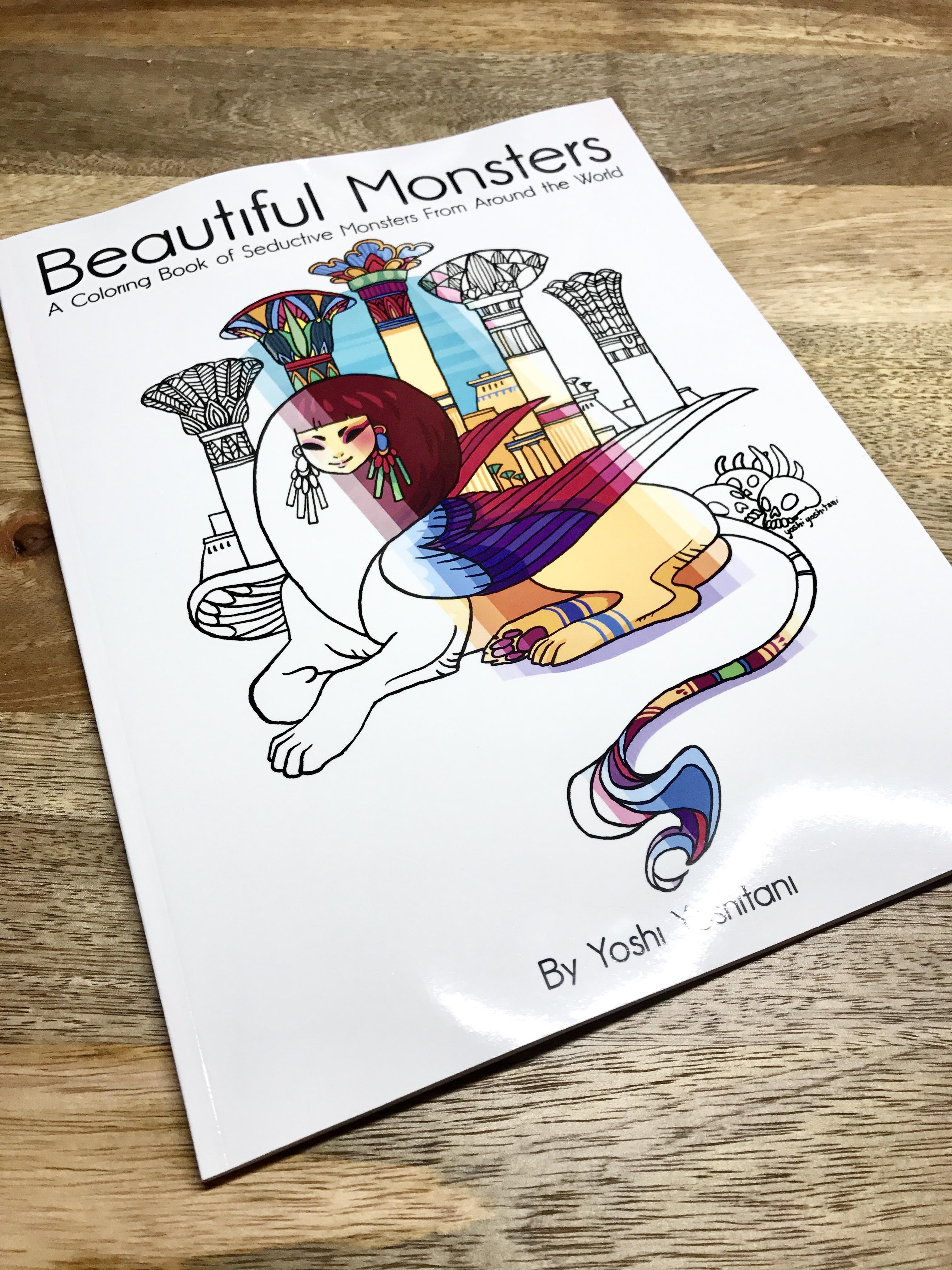 beautiful monsters coloring book yoshi yoshitani online store