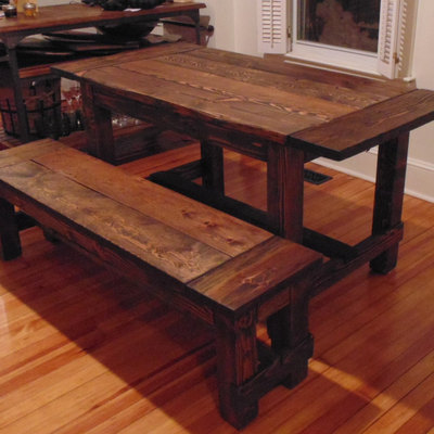 Harford trestle dining table  farmhouse  reclaimed wood  custom   handcrafted  handmade Home   Wonderland Woodworks   Online Store Powered by Storenvy. Farmhouse Dining Table Made In Usa. Home Design Ideas