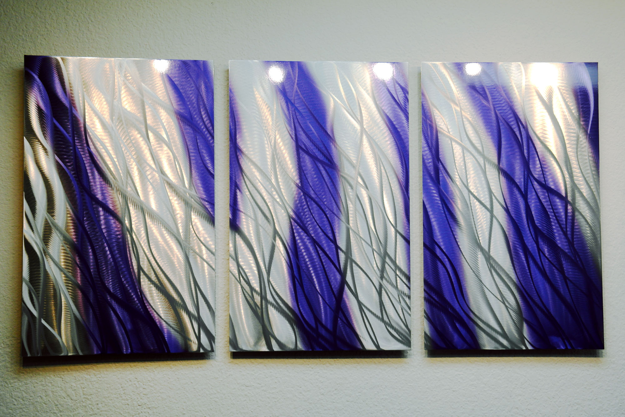 Blue Metal Wall Art Magnificent Reef Purple Blue 47  Metal Wall Art Abstract Sculpture Modern Decorating Inspiration