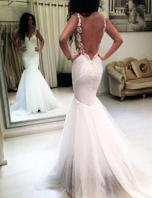Sexy mermaid backless appliques wedding gownsmermaid bridal gowns sexy mermaid backless appliques wedding gownsmermaid bridal gowns for women junglespirit Gallery