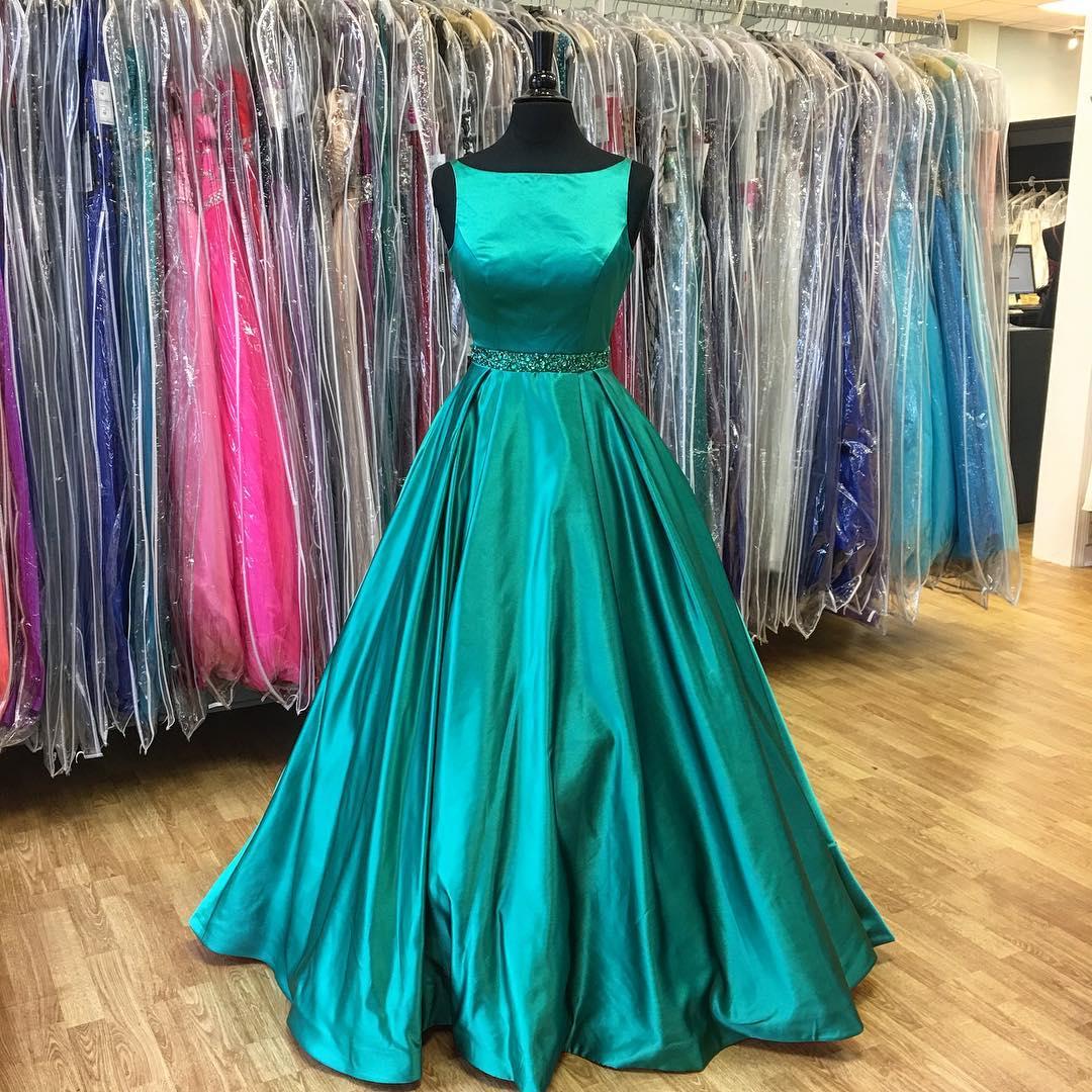 2017 Prom Dress,Long Prom Dress,Dark Teal Green Prom Dress,Formal ...