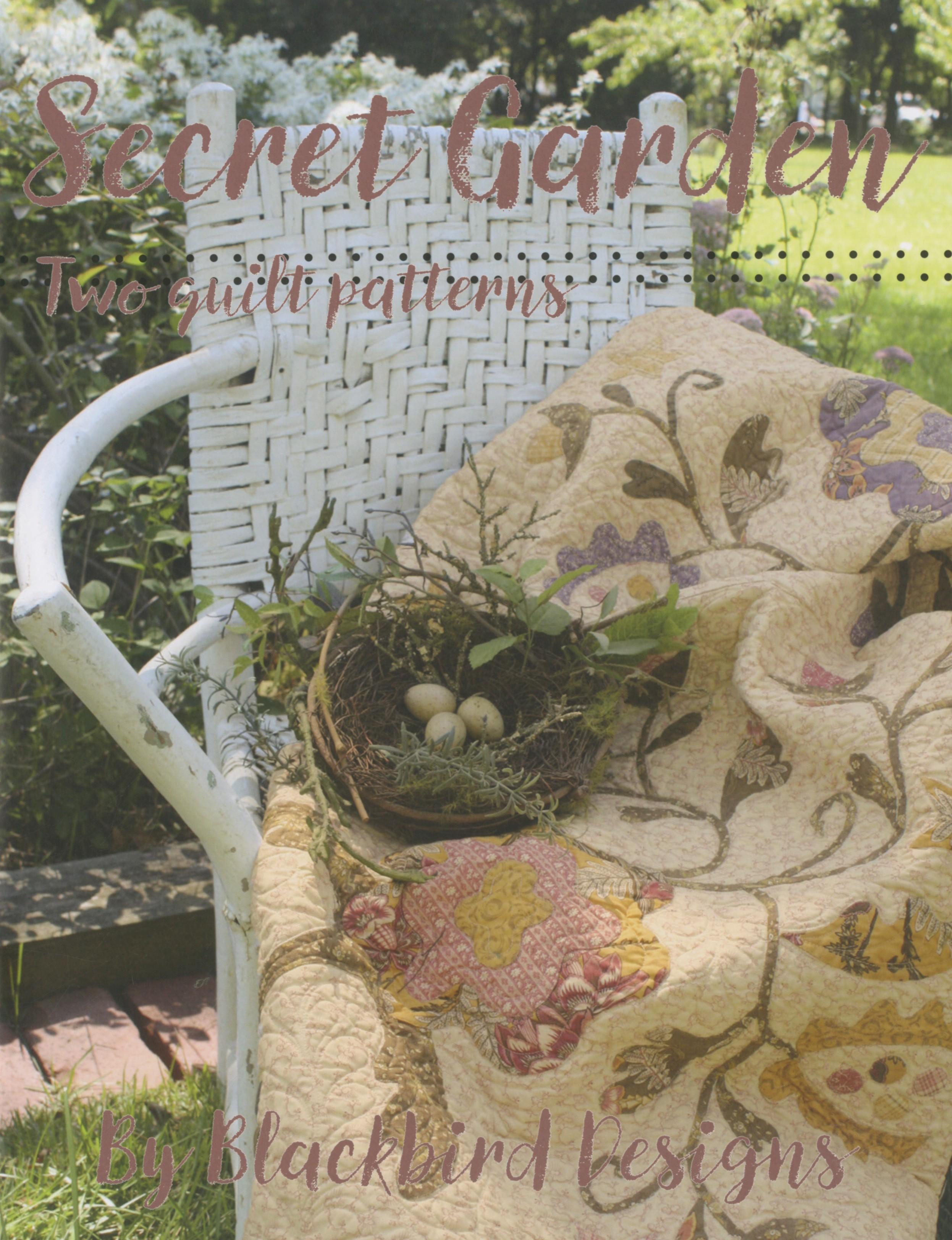 Secret garden two quilt patterns book by blackbird for Garden club book by blackbird designs