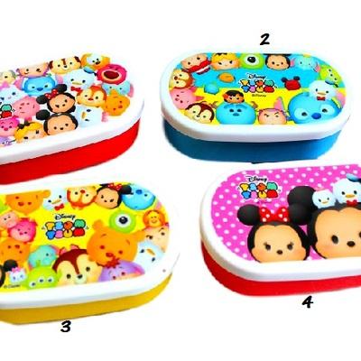 Disney Tsum Tsum Lunch Box Plastic Container  Japan Kawaii Bento Supplies