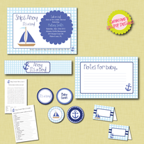 Full Collection - Nauitcal Baby Shower Printables