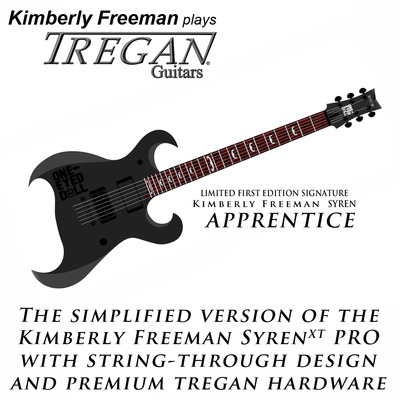 The kimberly freeman signature guitar by tregan: limited first edition syren apprentice