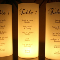 Seating Chart - Escort Table Luminarias - Thumbnail 3