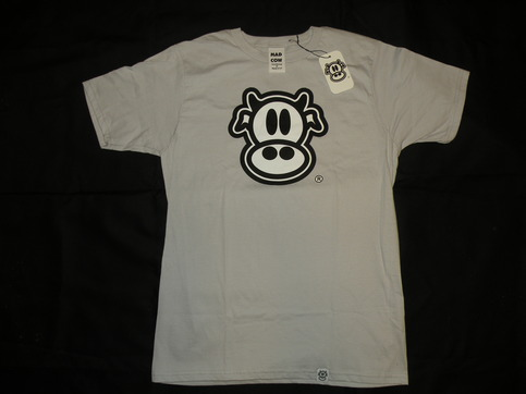 MAD COW LOGO-MENS (SILVER)